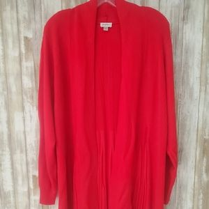 NWOT Red Cardigan Sweater by Avenue